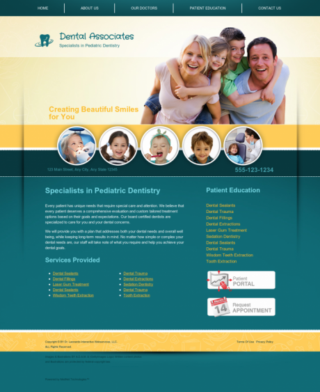 Pediatric Dentistry Website Preview #10
