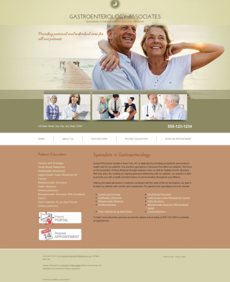 Gastroenterology Website Preview #11