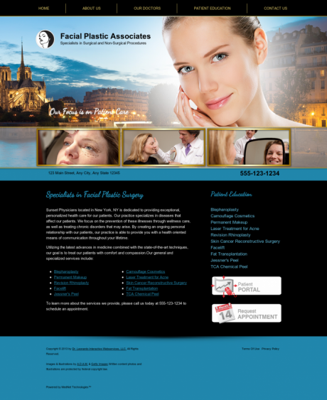 Facial Plastic Surgery Website Preview #9