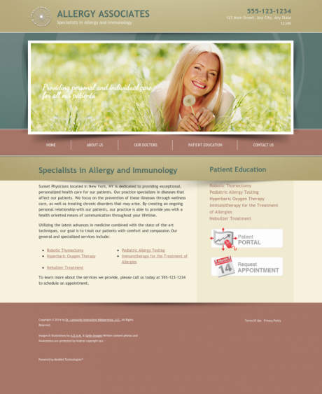 Allergy & Immunology Website Preview #3