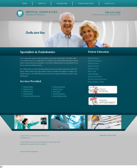 Endodontics Website Preview #10