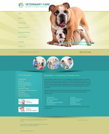 Veterinary Website Preview #6