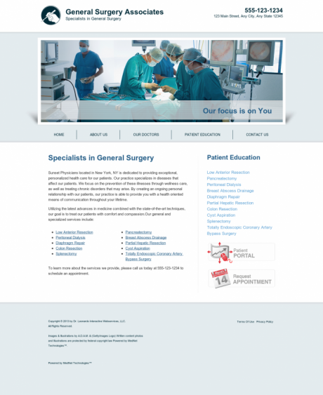General Surgery Website Preview #15