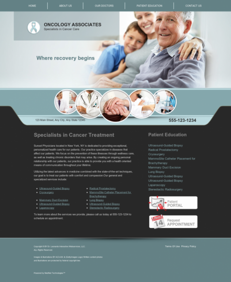 Oncology Website Preview #9