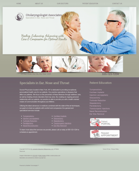 Otolaryngology Website Preview #8