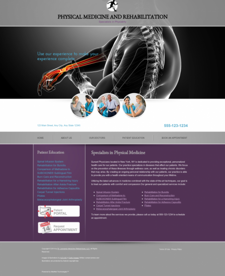 Physical Medicine Website Preview #6