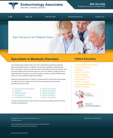 Endocrinology Website Preview #5