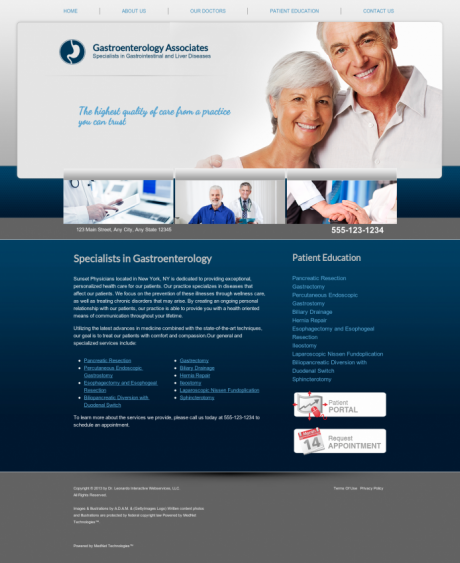 Gastroenterology Website Preview #12