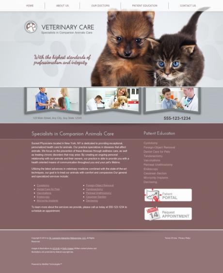 Veterinary Website Preview #18