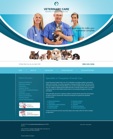 Veterinary Website Preview #13