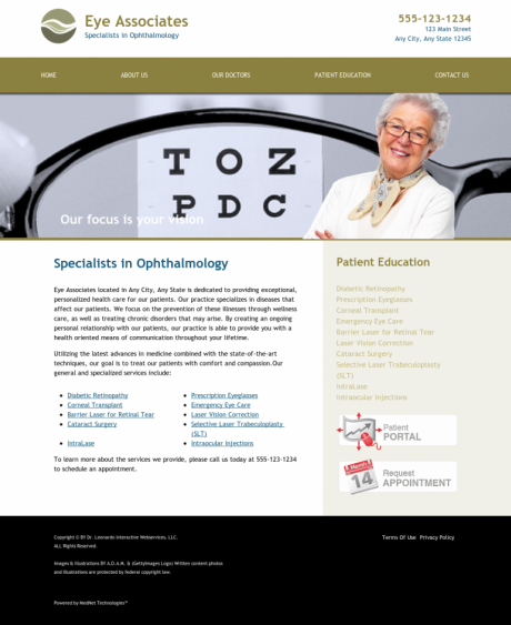 Ophthalmology Website Preview #4