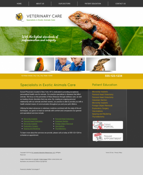 Avian & Exotic Website Preview #1