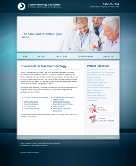 Gastroenterology Website Preview #13