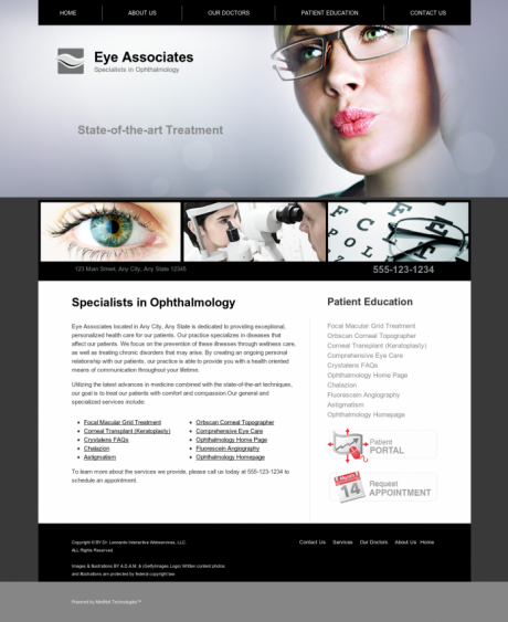 Ophthalmology Website Preview #12