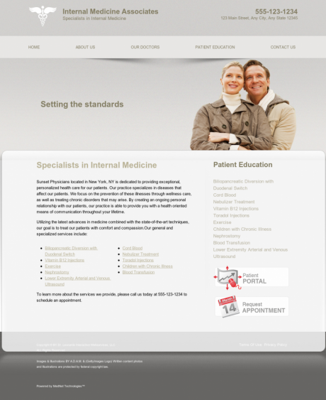 Internal Medicine Website Preview #12