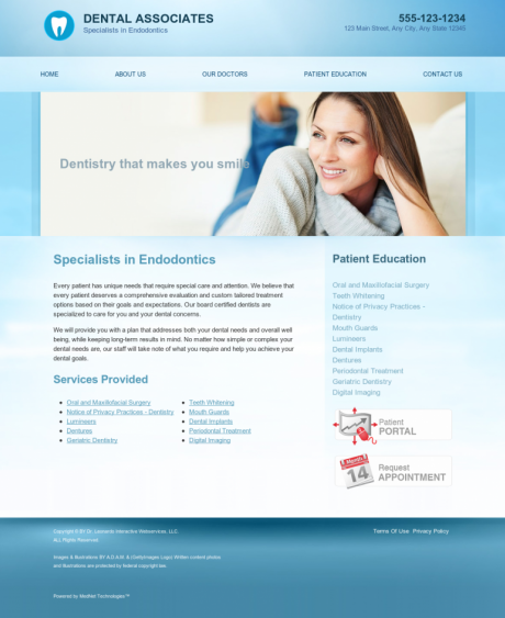 Endodontics Website Preview #11