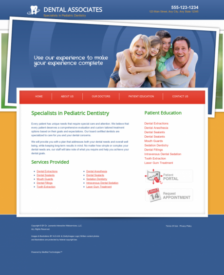 Pediatric Dentistry Website Preview #11