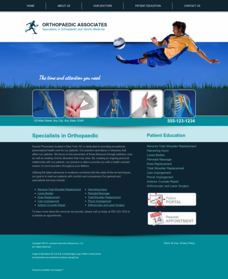 Orthopaedic Website Preview #9