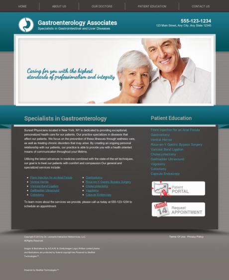 Gastroenterology Website Preview #14