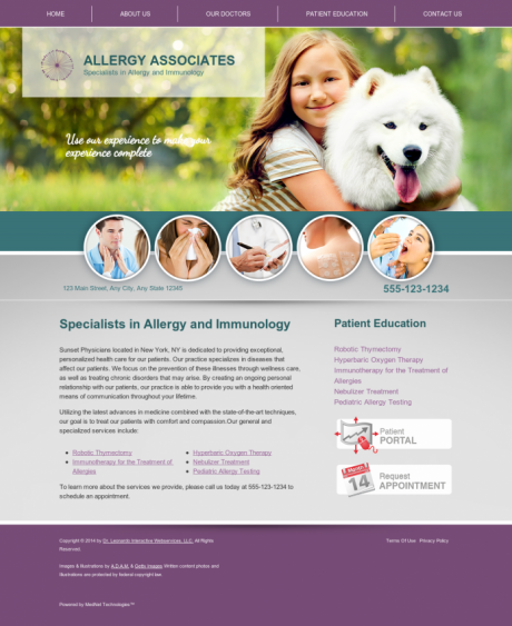 Allergy & Immunology Website Preview #7