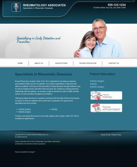 Rheumatology Website Preview #4