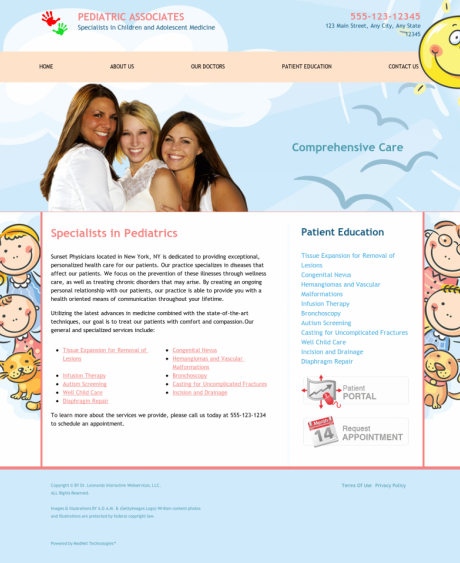 Pediatrics Website Preview #13