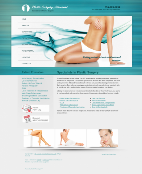 Plastic Surgery Website Preview #8