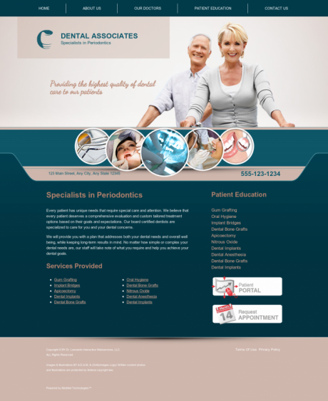 Periodontics Website Preview #10