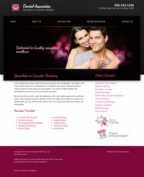 Cosmetic Dentistry Website Preview #10