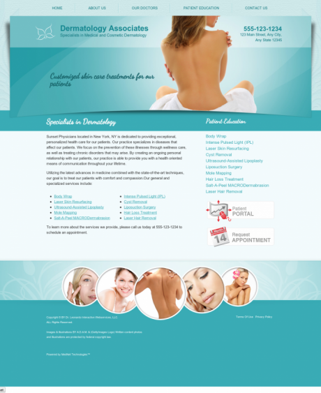 Dermatology Website Preview #10