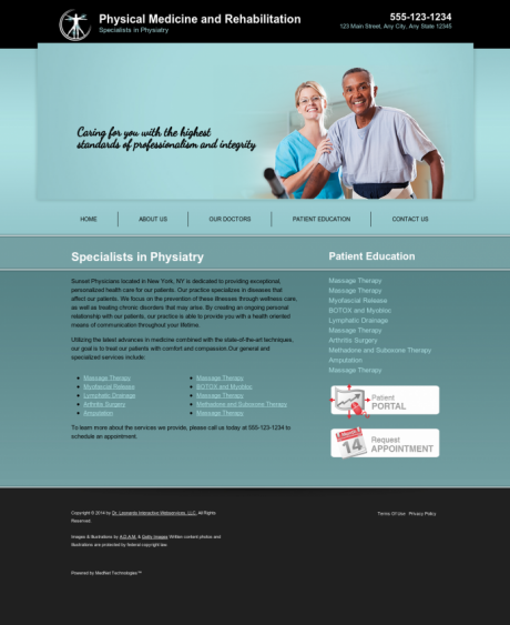 Physical Medicine Website Preview #7