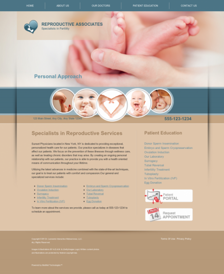 Reproductive Services Website Preview #10