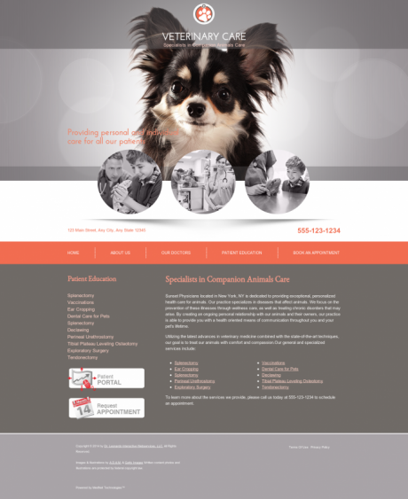 Veterinary Website Preview #3