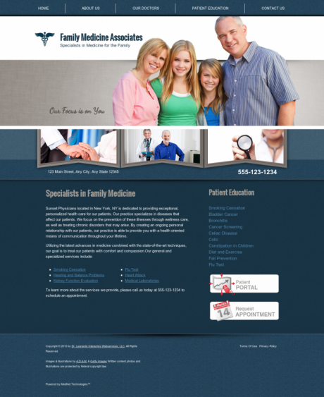 Family Medicine Website Preview #9
