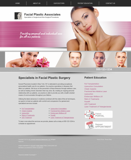 Facial Plastic Surgery Website Preview #10