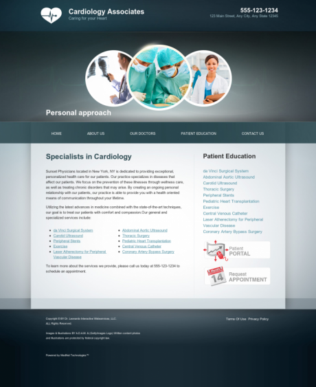 Cardiovascular Website Preview #9