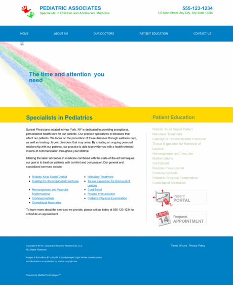 Pediatrics Website Preview #14