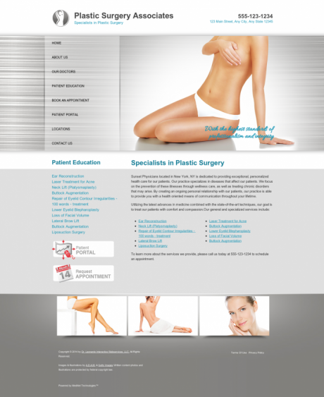 Plastic Surgery Website Preview #9
