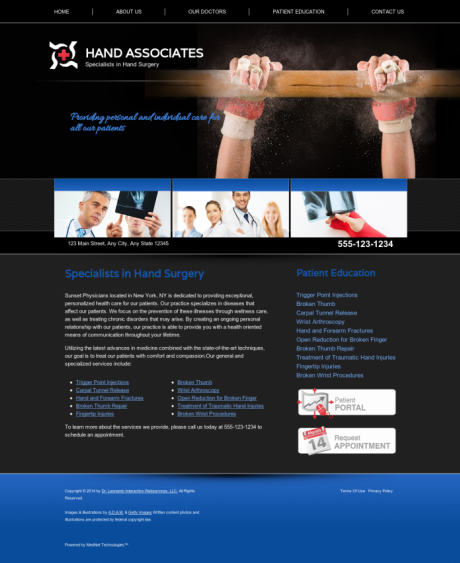 Hand Surgery Website Preview #5