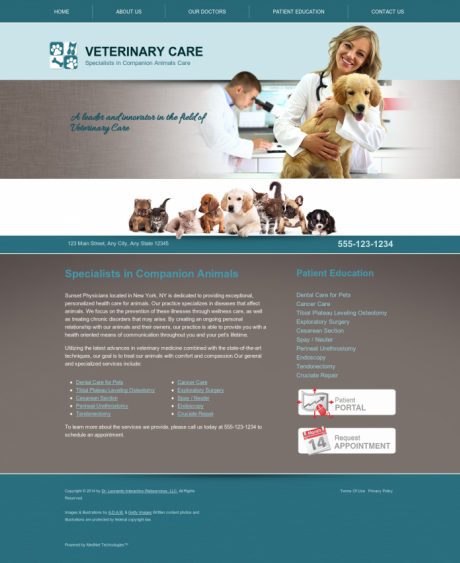 Veterinary Website Preview #4