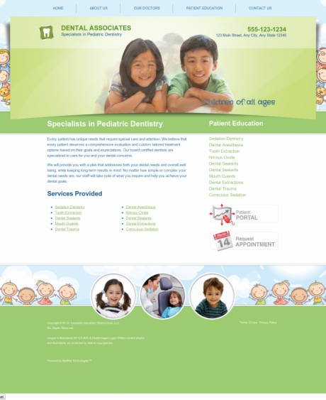 Pediatric Dentistry Website Preview #13