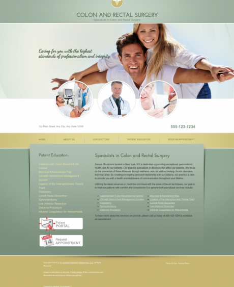 Colon & Rectal Surgery Website Preview #9