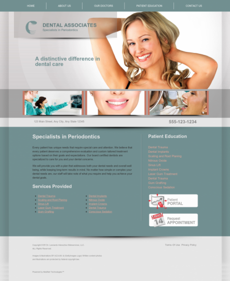 Periodontics Website Preview #11