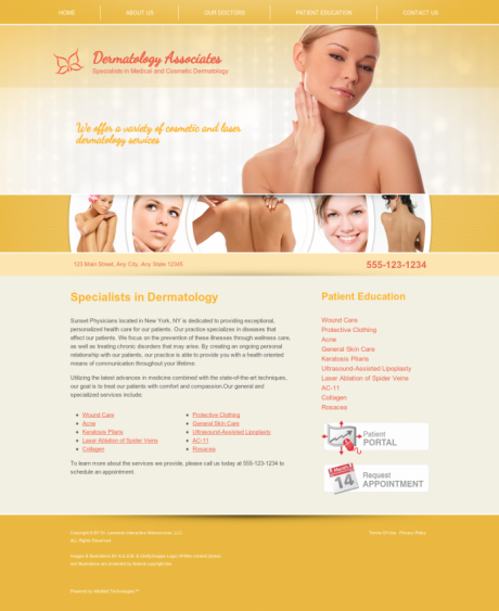 Dermatology Website Preview #12