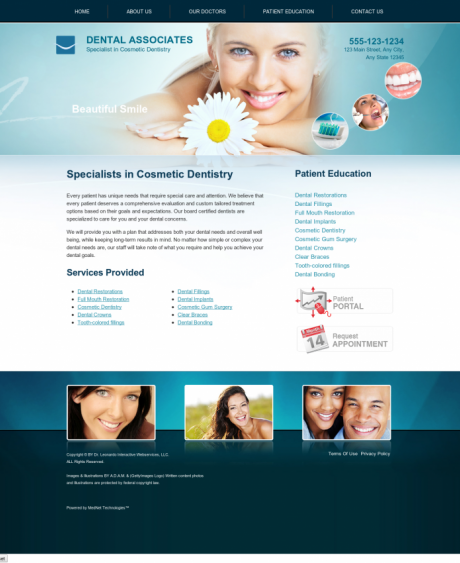 Cosmetic Dentistry Website Preview #11
