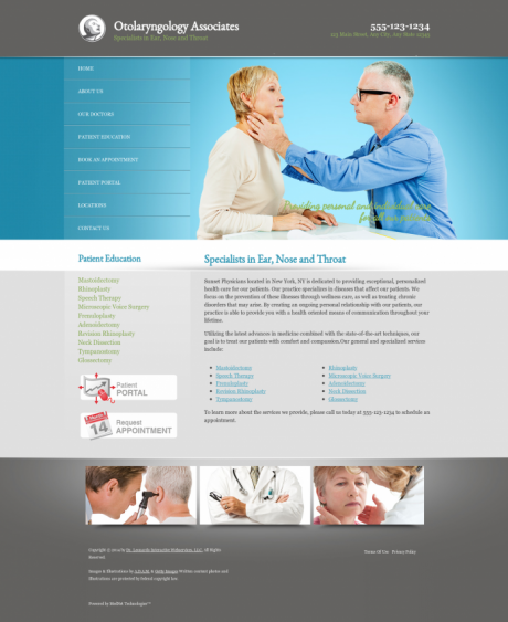 Otolaryngology Website Preview #9