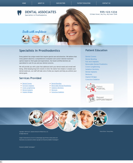 Prosthodontics Website Preview #9
