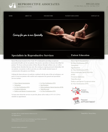 Reproductive Services Website Preview #11
