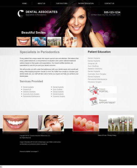 Periodontics Website Preview #12