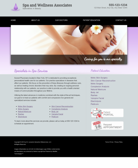 Dermatology Website Preview #13
